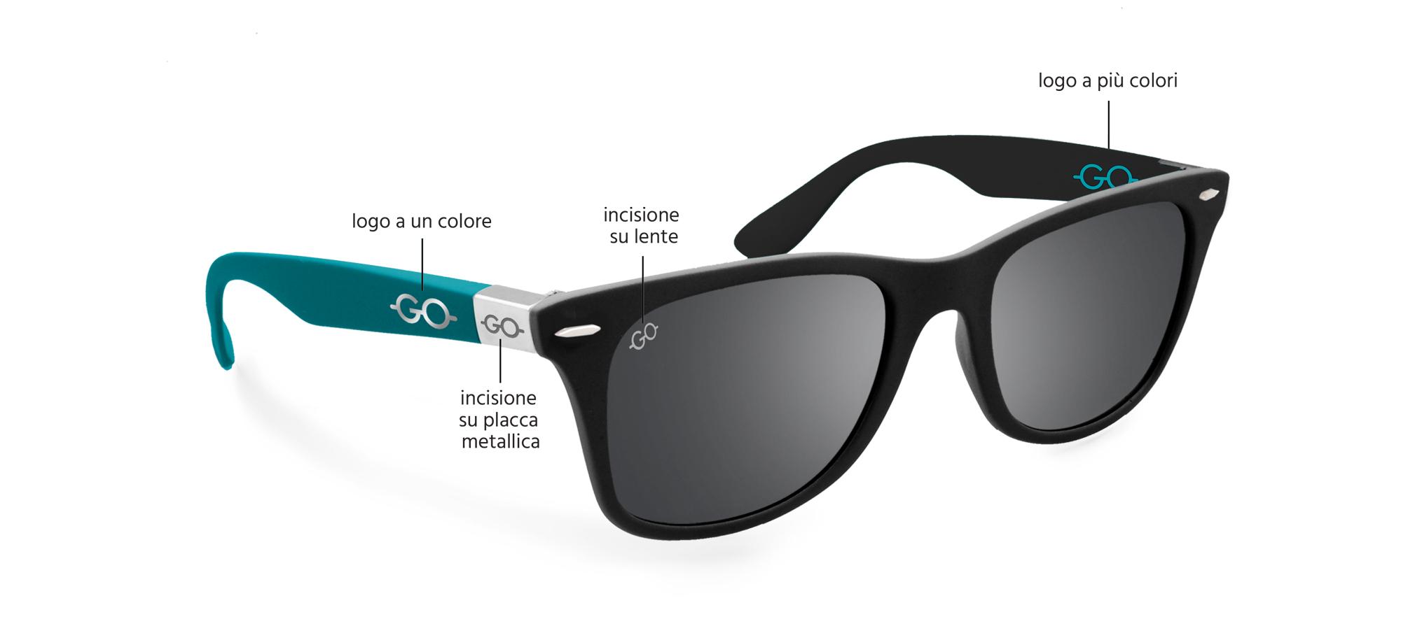 Posizione logo - gadget occhiali