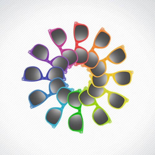 occhiali gadget colori